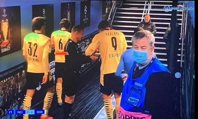 Linesman who asked for Erling Haaland's signature after Man City's win gets officiating BAN