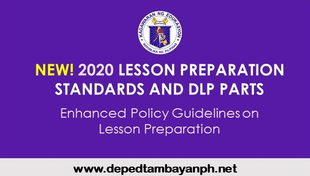 DepED's New Lesson Preparation Standards and DLP Parts