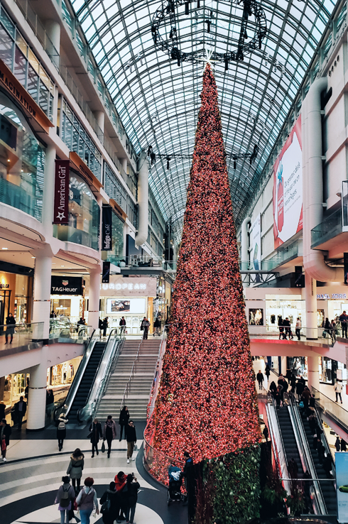 Eaton Centre Christmas Tree Toronto