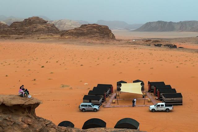 Vistas campamento Wadi Rum Starlight Jordania