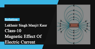 Solutions of Magnetic Effects of Electric Current Lakhmir Singh Manjit Kaur  VSAQ, LAQ and MCQ Pg No. 73 Class 10 Physics