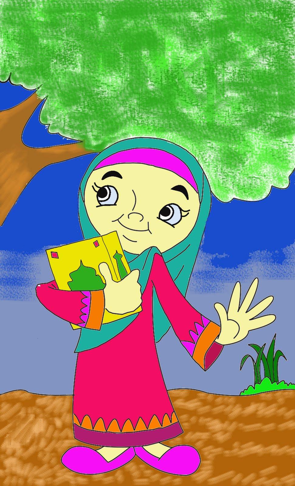 Mewarnai Gambar Anak - anak: Mewarnai Anak Mengaji