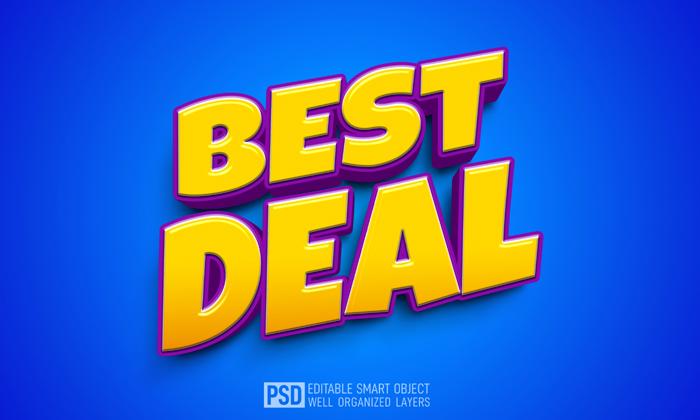 Best Deal 3D Text Style Effect Template