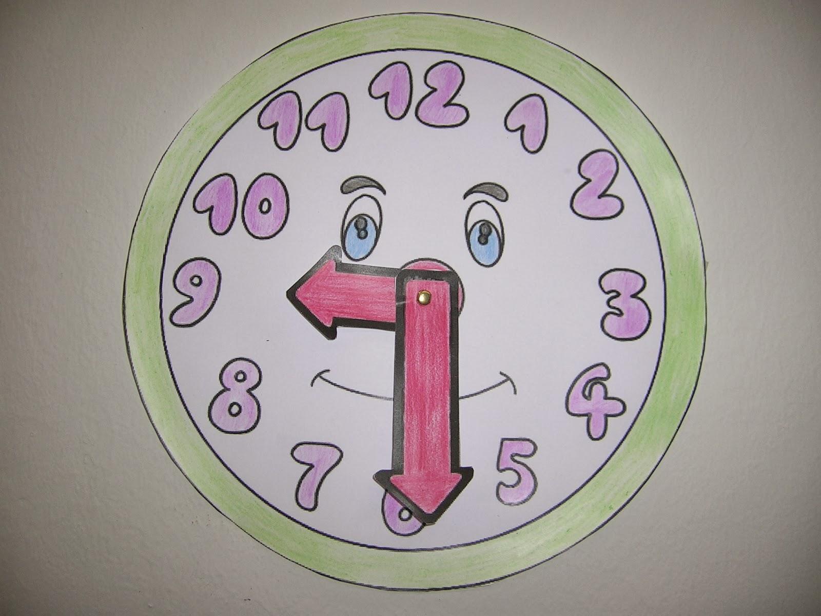 Trabajando en educaci n infantil las horas - Manualidades relojes infantiles ...