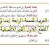 مذكرات اللغة العربية للسنة الرابعة إبتدائي الجيل الثاني المقطع الاول القيم الانسانية