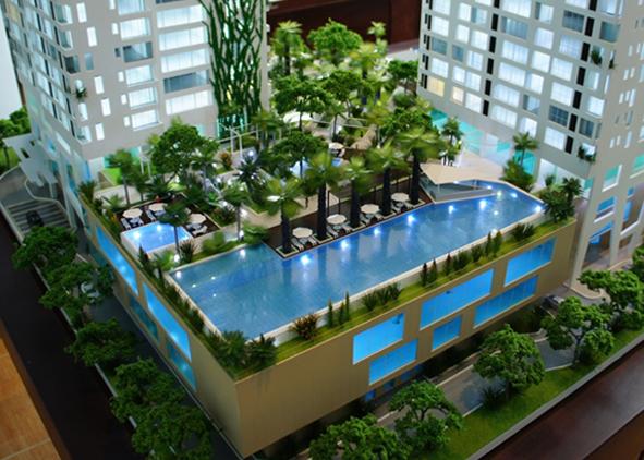 Mô hình kiến trúc dự án Thảo Điền Pearl