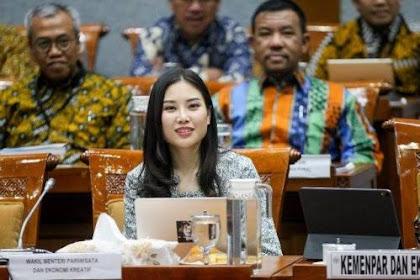 Wamenparekraf Angela Tanoesoedibjo Perkenalkan Diri, Komisi X Sambut dengan Tepuk Tangan Riuh