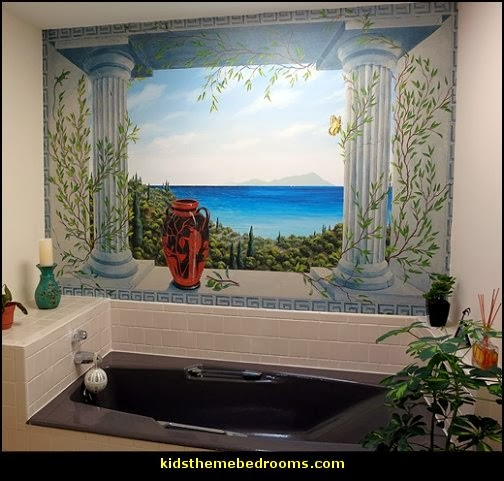 Decorating theme bedrooms maries manor mythology theme for Bathroom wall mural