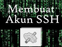 Cara Membuat Akun SSH