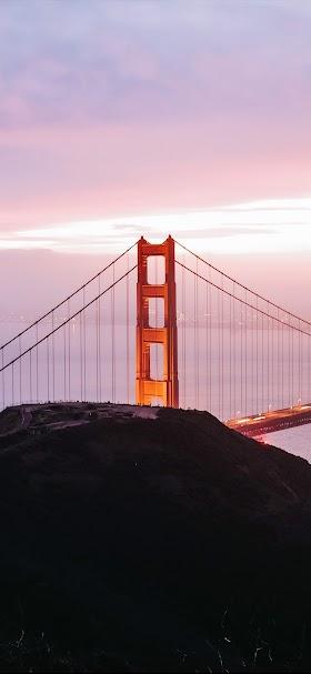 خلفية جسر البوابة الذهبية في سان فرانسيسكو