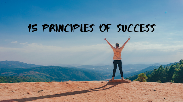 If you want to have success in life, follow these 15 principles