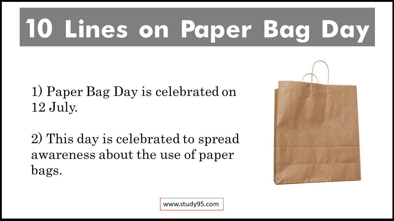 Lines on Paper Bag Day