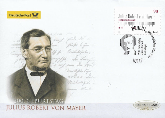 200 birthday of Julius Robert von Mayer FDC