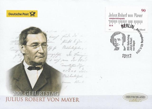 200 birthday of Julius Robert von Mayer FDC