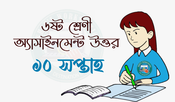 10th Week Class 6 Assignment Answer 2021