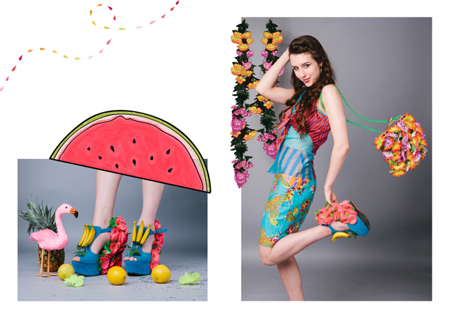 Ciara Monohan, fruit shoes, tropical fashion