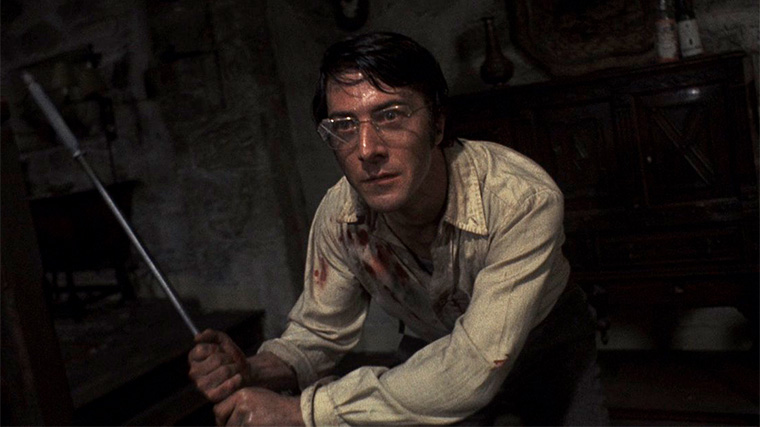 Dustin Hoffmann in STRAW DOGS (Sam Peckinpah, 1971). Quelle: Screenshot Criterion Blu-ray (skaliert)