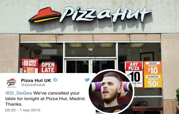 Pizza Hut triunfa en las redes riéndose del caso De Gea