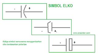 simbol elko,atau elektrolit kondensator