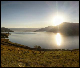 Sunrise over Deer Creek Reservoir on the Deer Creek Dam Trail
