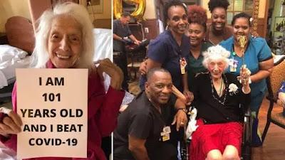 'Superhuman!!! Meet the 101-year-old woman who beats coronavirus after surviving cancer, Spanish flu pandemic