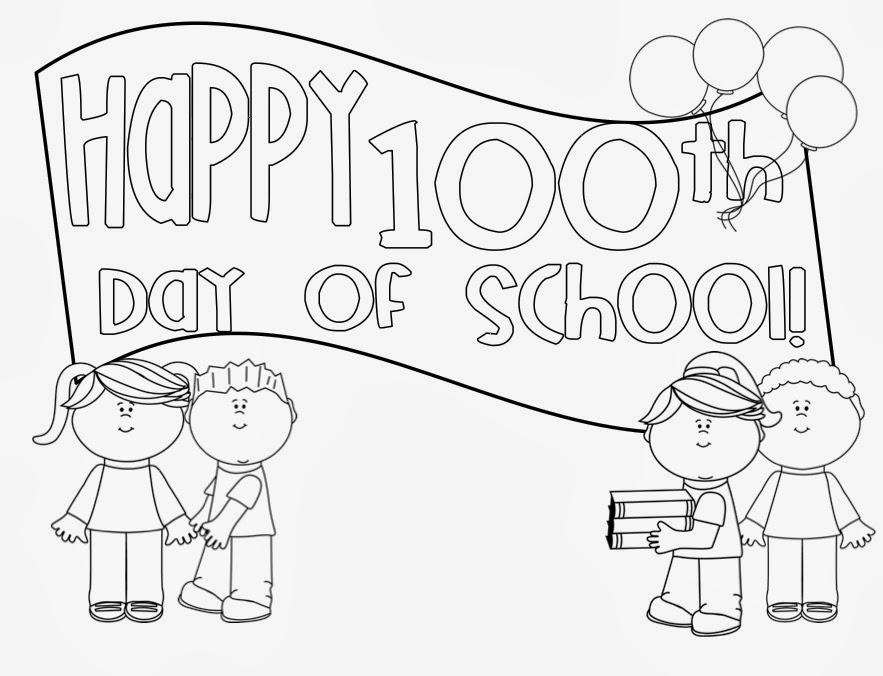 free 100 coloring pages for kids | 100th Day Of School Coloring Pages