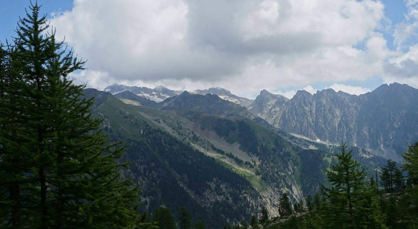 View from trail over Salèse Valley