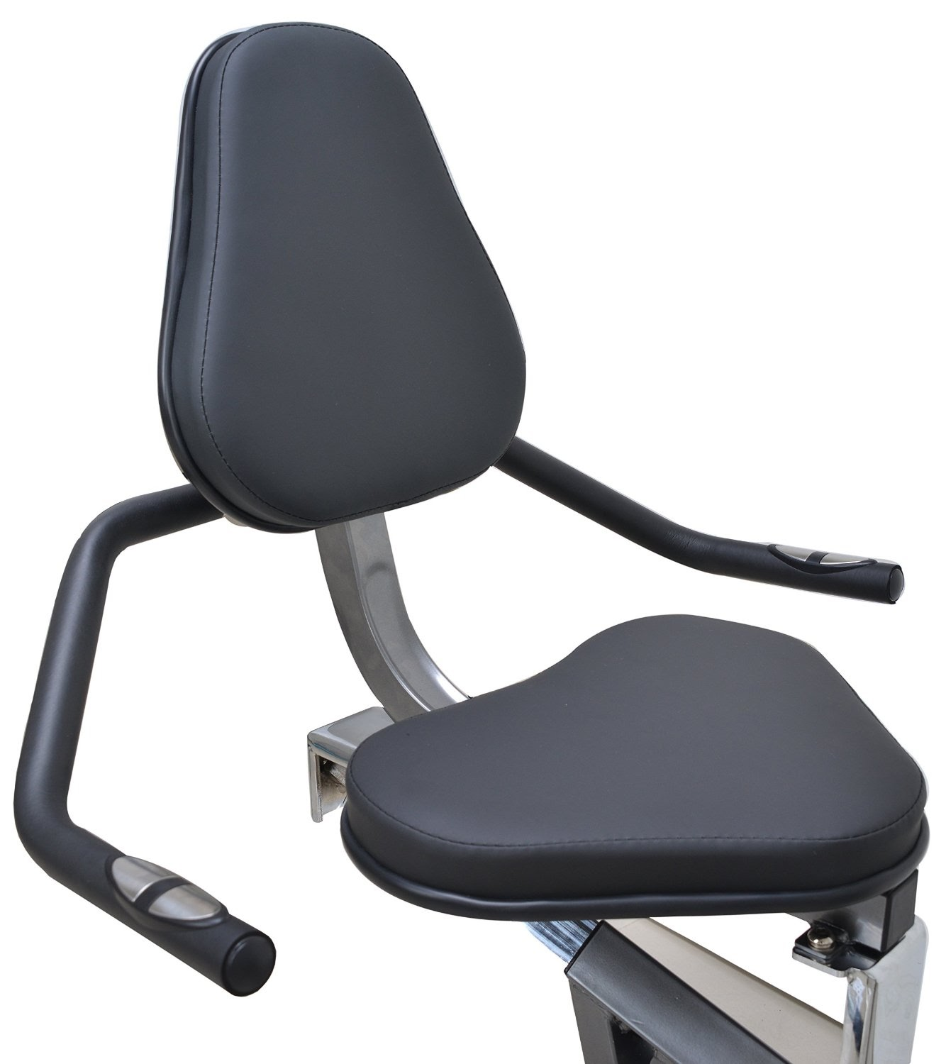 Adjustable Padded Seat With Backrest Support U0026 Pulse Grip Heart Rate  Sensors In Handlebars