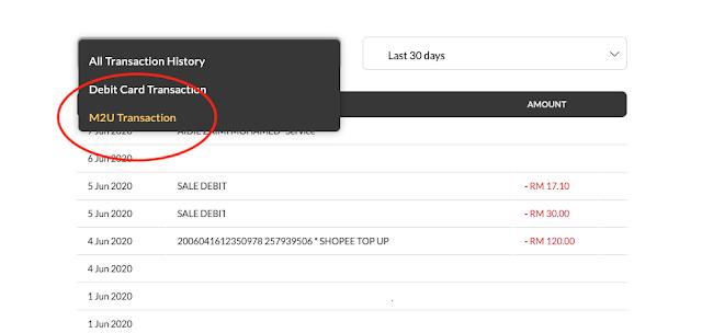 maybank2u online receipt