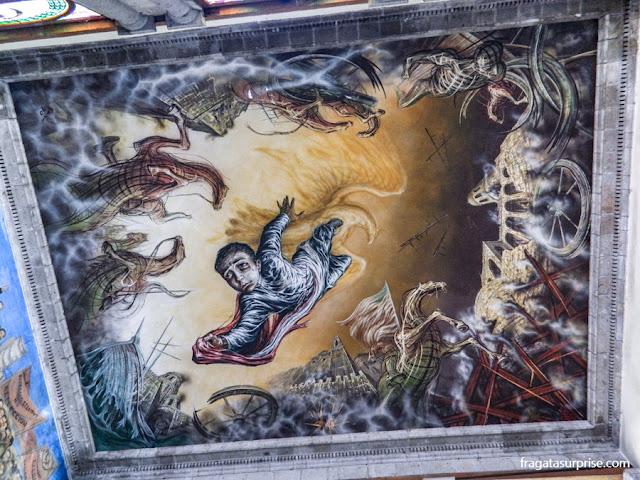 Mural O Sacrifício dos Meninos Heróis, no Castelo de Chapultepec, Cidade do México