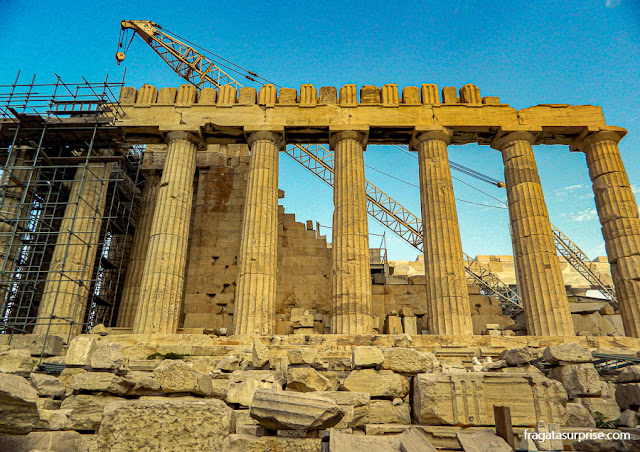 O Partenon, na Acrópole de Atenas