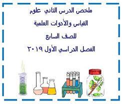 تلخيص درس القياس والأدوات العلمية علوم صف سابع فصل أول 2021