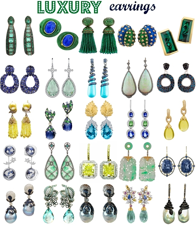 best of luxurious, glamorous, elegant and most expensive earrings