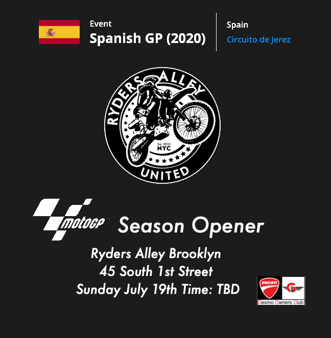MotoGP 2020 Season Opener at Ryders Alley Brooklyn