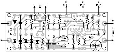 Parts Placement Layout Power Supply with Dissipation Limiter