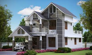 2057 sqft Majestic 4 Bedroom Villa Design