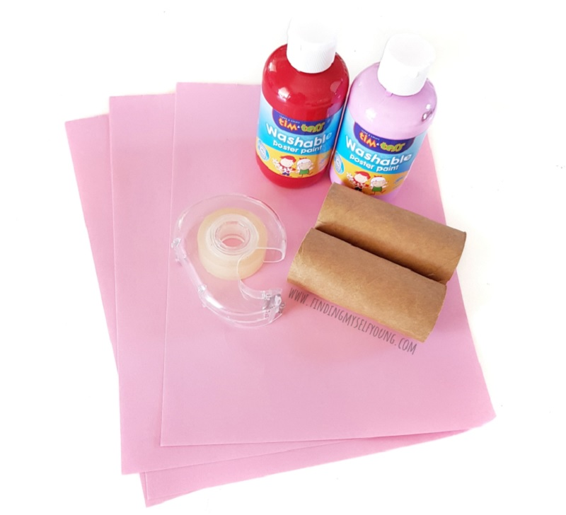 supplies to do heart stamp painting
