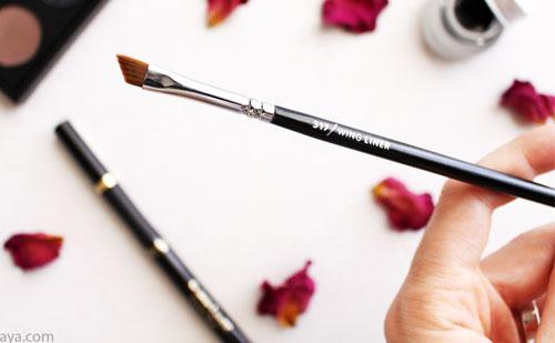 Qué es un pincel biselado en maquillaje (o por qué necesitas esta brocha en tu vida)