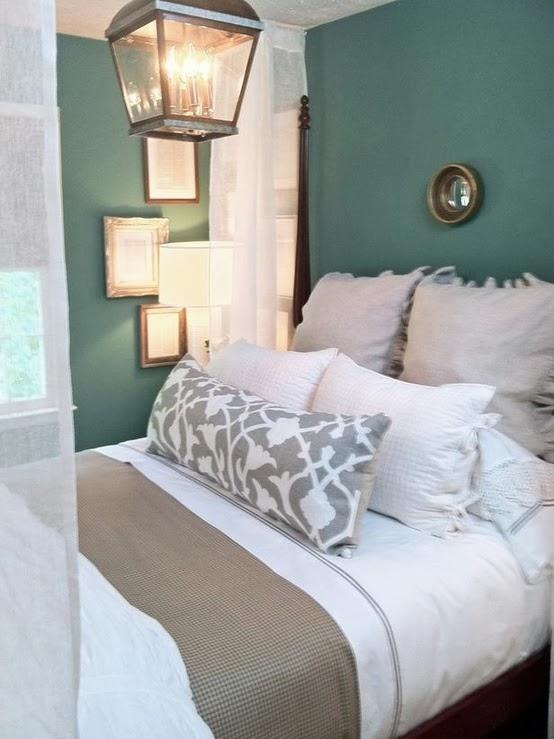 Dormitorios en gris y turquesa dormitorios colores y estilos - Dormitorio pared gris ...