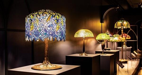 Design Hunter Lampada Da Tavolo Tiffany Wisteria 1902