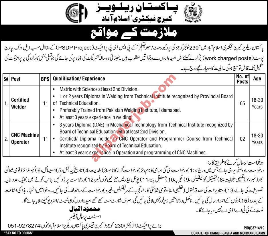 Pakistan Railway Jobs 2020 Islamabad Govt of Pakistan Latest Advertisement