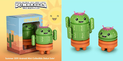 San Diego Comic-Con 2019 Exclusive Spike Android Mini Figure by Andrew Bell