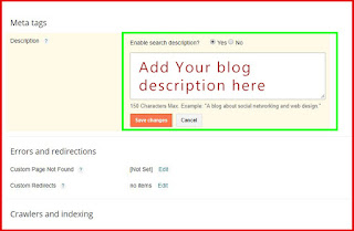 How to add blog post Meta description