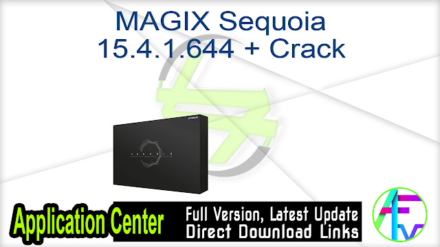 MAGIX Sequoia 15.4.1.644 + Crack