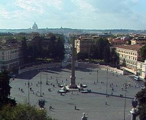 La Piazza del Popolo, Lugares Turisticos en Roma, Plazas de Roma, Que ver en Roma, Que visitar en Roma, Turismo en Roma,