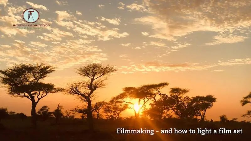 صناعة الأفلام - و كيفية إضاءة مجموعة الأفلام