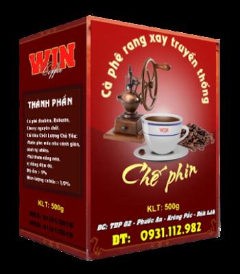 Cà phê nguyên chất pha phin truyền thống - Hộp 500g [Cà phê bột]