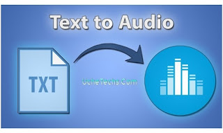 Convert Text to Audio or Speech