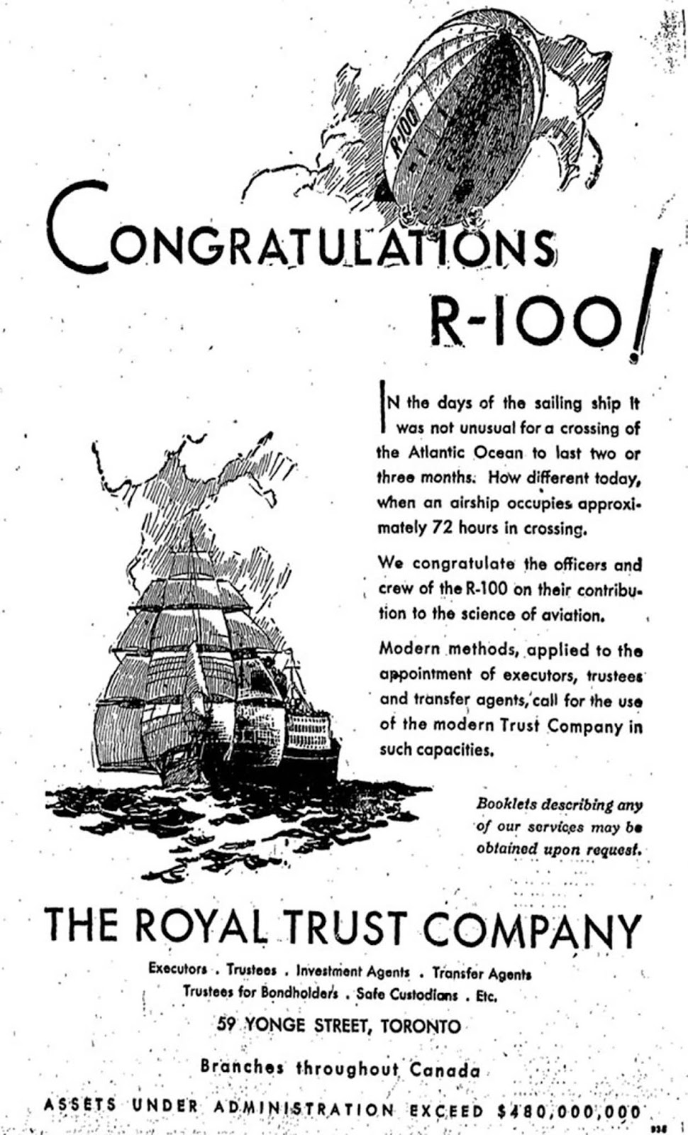 Advertising brochure for R-100.