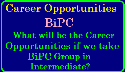 What will be the Career Opportunities if we take the MPC Group in Intermediate? List of Courses After BIPC BIPC Students Career Options List of Courses After Intermediate BIPC Job oriented courses after 12th BIPC List of Career Options available after 12th Biology Degree courses after 12th What course can a BIPC student choose other than MBBS? After Intermediate BIPC what are the courses available to settle in a good position 2019/05/what-will-be-career-opportunities-if-we-take-BiPC-group-in-intermediate.html